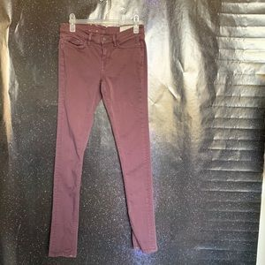 All Saints- Plum Skinny Pants size 26w L32